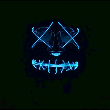 Neon Light Up Mask- BLUE Secure yours now!