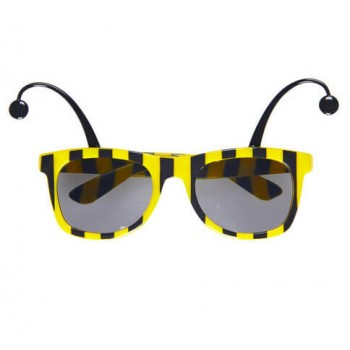 Bee Style Glasses With Antennas Fancy Dress Accessory
