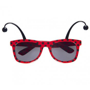 Ladybug Glasses With Antennas Fancy Dress Accessory