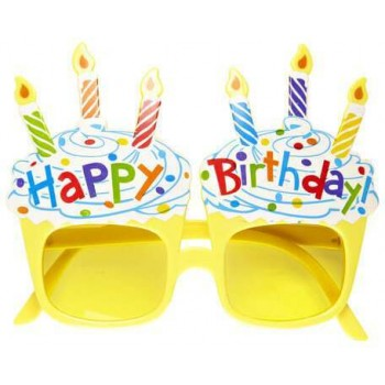Adult Happy Birthday Glasses With Candles Fancy Dress Accessory