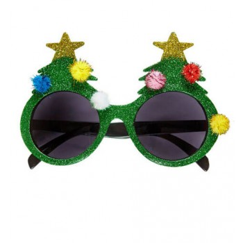 Adult Christmas Tree Glasses Fancy Dress Accessory