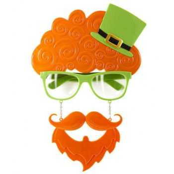 Adluts St Patricks Glasses With Beard And Moustache Set Fancy Dress Accessory