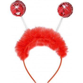 Girls Sequin Head Boppers - Red Accessories - (Red)