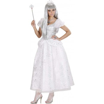 Ladies Ice Queen Fairy Tales Outfit - (White)