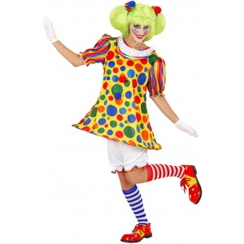 Ladies Clown Girl- (Hoop Dress Pantaloons Hairband) Clowns -