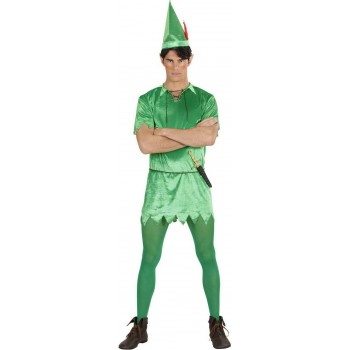 MENS PETER- (LONG TOP BELT HAT) FAIRY TALES OUTFIT (GREEN)