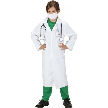 Boys Doctor (Lab Coat Face Mask) Doctors/Nurses Outfit - (White)
