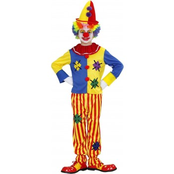 Boys Clown (Coat Pants) Clowns Outfit - (Multicolour)