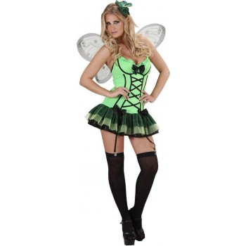 Ladies Green Butterfly- (Dress Wings Haircomb) Animal Outfit - (Green)