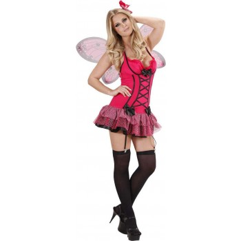 Ladies Hot Pink Butterfly- (Dress Wings Haircomb) Animal - (Pink)
