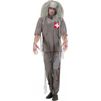Mens Zombie Doctor- (Coat Pants) Doctors/Nurses Outfit (Grey)