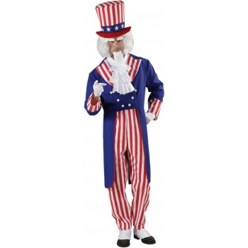 Mens Uncle Sam- (Tailcoat Shirt Pants Hat) Army