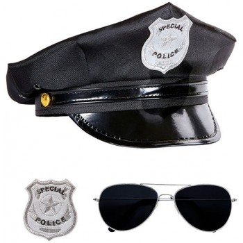 Adults Police Officer Set Fancy Dress Accessory