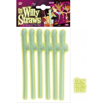 Willy Straws Gid - Set Of 6 Other