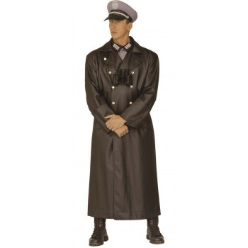 General Coat Leatherlook Full Length Costume Mens