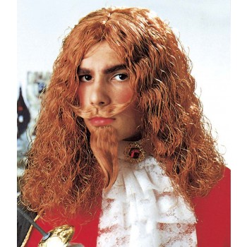 Musketeer Wig W/Moustache And Goatee - Fancy Dress (Musketeers)