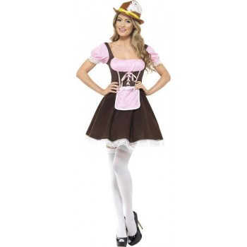 Ladies Tavern Girl Costume (Brown)