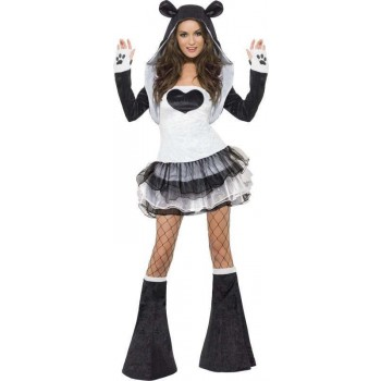Ladies Fever Panda Costume Animal Outfit (Black)
