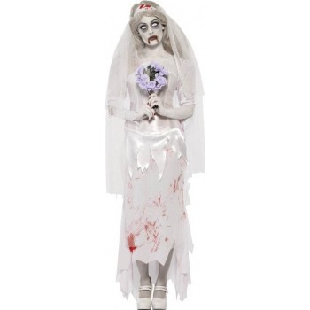 Ladies Till Death Do Us Part Zombie Bride Costume Halloween Outfit