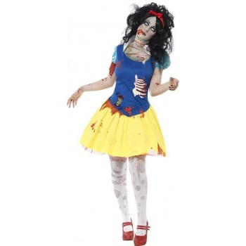 Ladies Zombie Snow Fright Costume Halloween Outfit