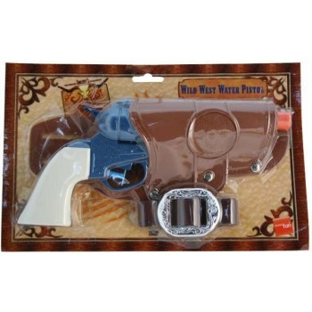 Western Water Pistol Single Gun - Fancy Dress (Cowboys/Indians)