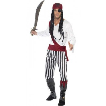Pirate Man Fancy Dress Costume Mens (Pirates)