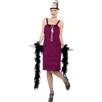 Ladies Jazz Flapper Costume 1920'S Outfit (Purple)