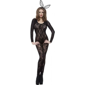 Ladies Body Stocking Black Lace Other