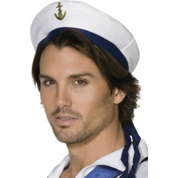 Sailor Hat Hats - (White)