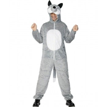 Adult Unisex Wolf Costume Animal Outfit - Unisex Large