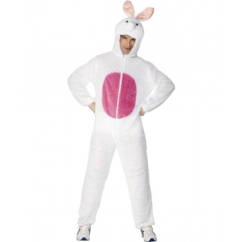 Adult Unisex Bunny Costume Animal Outfit - Unisex Large