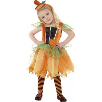 Pumpkin Fairy Fancy Dress Costume Girls (Halloween)