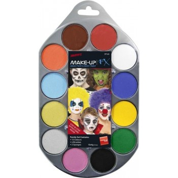 Face And Body Paint Pallet Water Based Fancy Dress