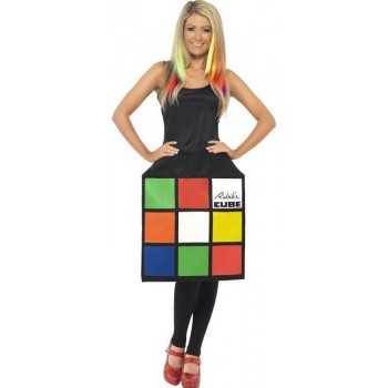 Ladies Rubik'S Cube Costume Game Outfit