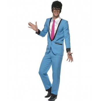 Mens Teddy Boy Costume 1950'S Outfit - Chest 46-48 (Blue)