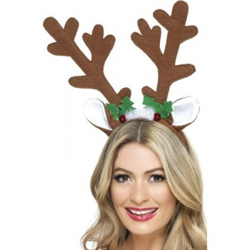 Adult Unisex Reindeer Antlers Christmas - (Brown)