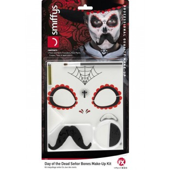 Day of the Dead Senor Bones Make-Up Kit Halloween Fancy Dress Accessory