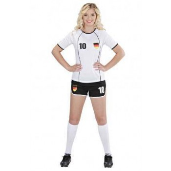 World Cop Scooer Girl Germany Fancy Dress Costume