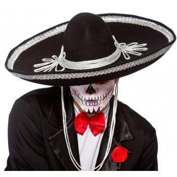 Adults Day Of The Dead Sombrero Halloween Fancy Dress Accessory