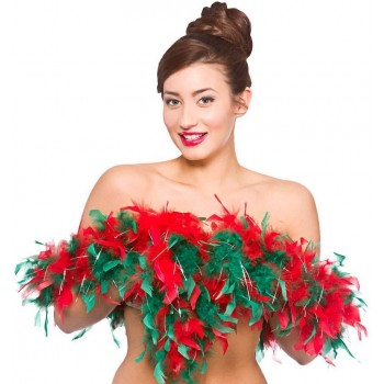 Ladies Xmas Feather Boa Christmas Accessory