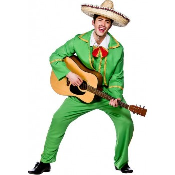 Mens Mexican Tortilla Guy Mexican Outfit (Green)