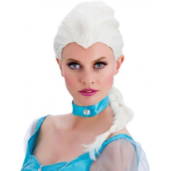 Ladies White Magical Princess Wig Fancy Dress Accessory.