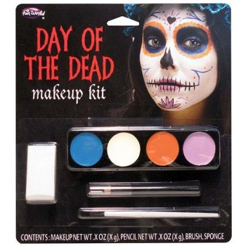 Day of the Dead Makeup Kit-Ghost Girl Halloween Fancy Dress Accessory