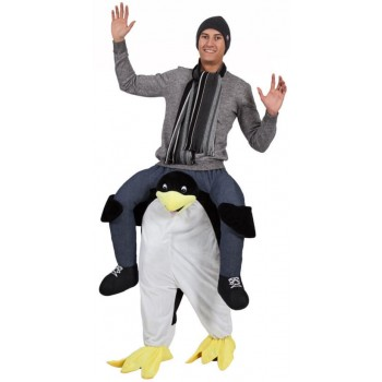 Adults Plush Carry Me Penguin Fancy Dress Costume