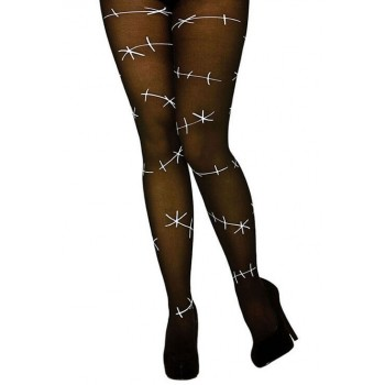 Ladies Stitched Up Tights Halloween Fancy Dress Accessory