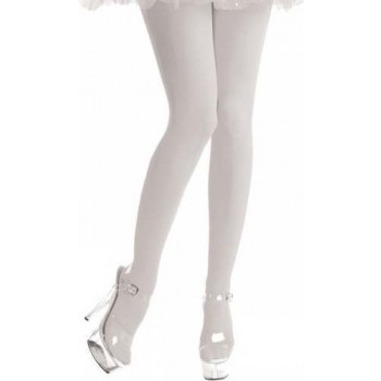 Opaque Tights / White - Fancy Dress Ladies