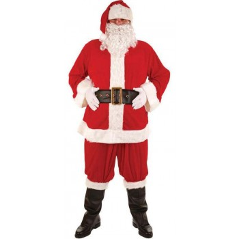 Super Deluxe Santa Suit Fancy Dress Costume Mens (Christmas)