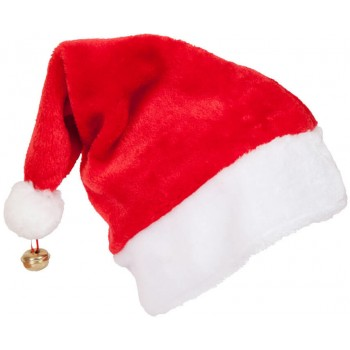 Adults Deluxe Santa Hat With Bell Christmas Accessory
