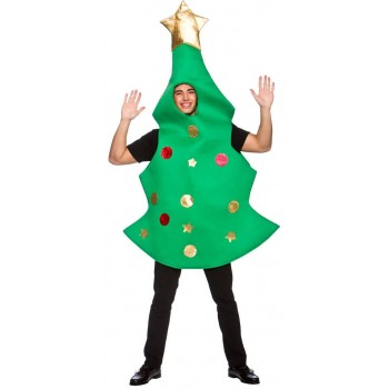 Adults All In One Christmas Tree Fancy Dress Costume.