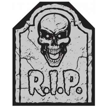 Tombstone Chair Cover 1 Piece Halloween Decoration.